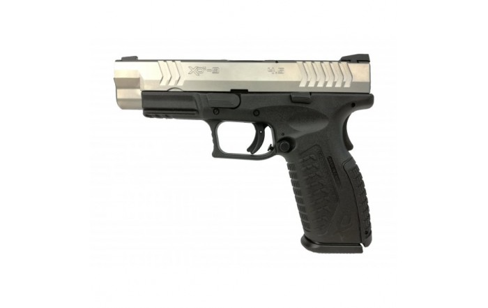 "Pistolet XDM-9 4,5"" Srebrno-Czarny"